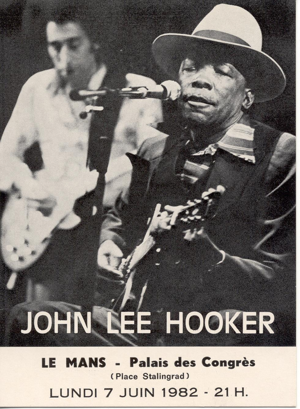 John Garcia performs in Le Mans, France with John Lee Hooker.