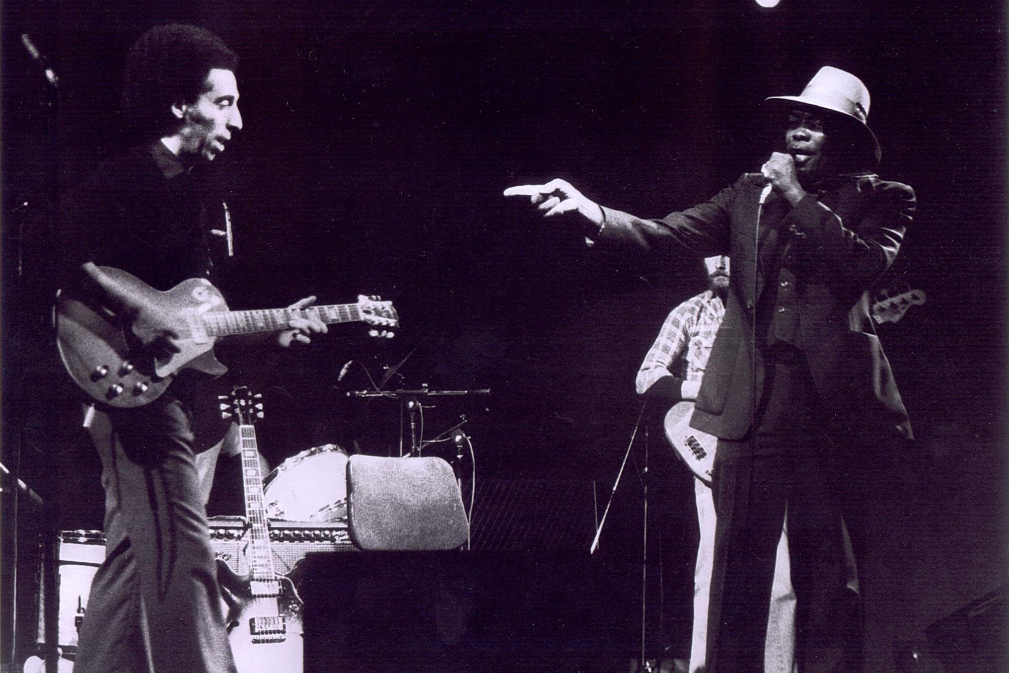 John García with John Lee Hooker
