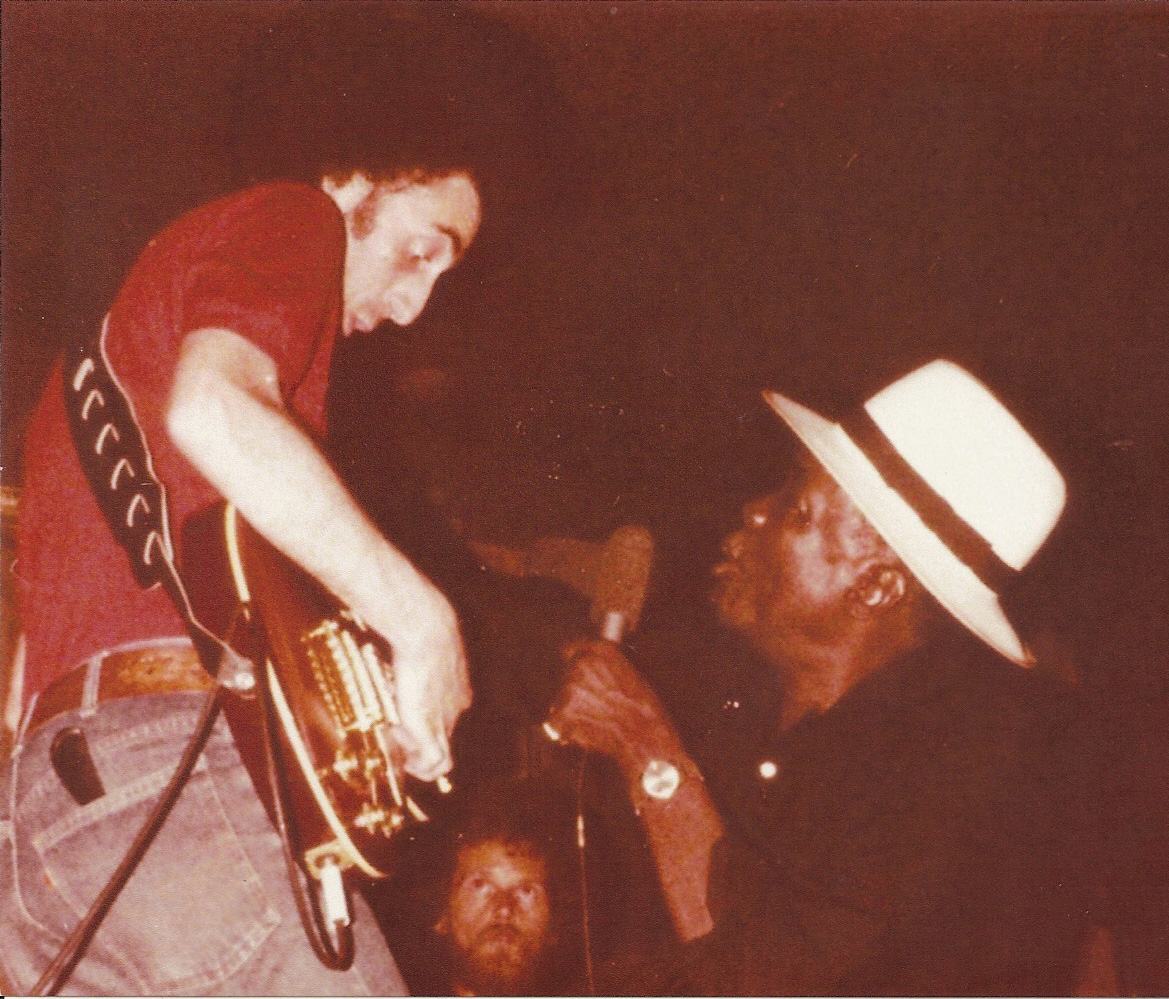 With John Lee Hooker at Vegetable Buddies, South Bend, Indiana in July 1979